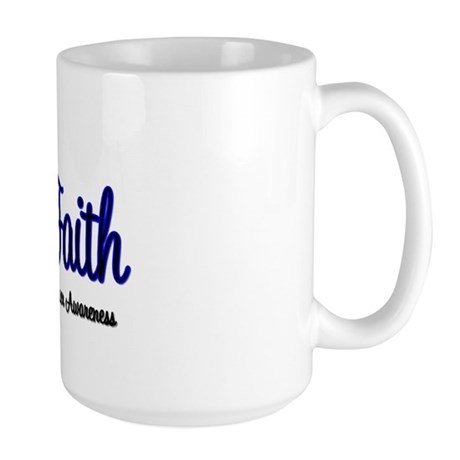 Colon Cancer Faith Large Mug