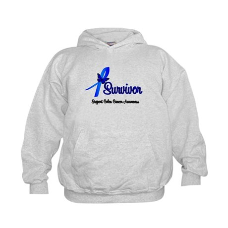 Colon Cancer Survivor Kids Hoodie