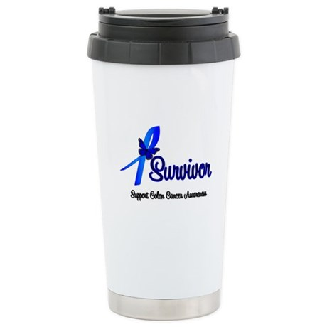 Colon Cancer Survivor Ceramic Travel Mug