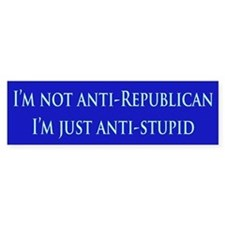 Anti-Republican Bumper Bumper Sticker