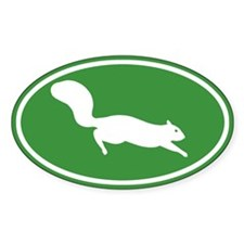 Squirrel Oval Sticker (10 pk)