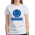 Gimp Mask Comedy Sign Women's T-Shirt