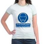 Gimp Mask Comedy Sign Jr. Ringer T-Shirt
