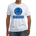 Gimp Mask Comedy Sign Fitted T-Shirt