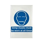 Gimp Mask Comedy Sign Rectangle Magnet (10 pack)