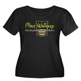 Malt Whiskey Women's Plus Size Scoop Neck Dark T-S