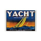 Yacht Rectangle Magnet