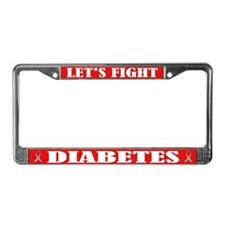 Diabetes Fight License Plate Frame