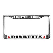 Cure Diabetes License Frame