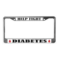 Help Fight Diabetes License Frame