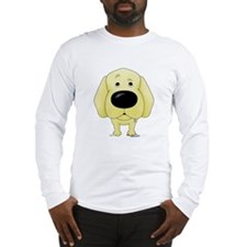 Big Nose/Butt Yellow Lab Long Sleeve T-Shirt