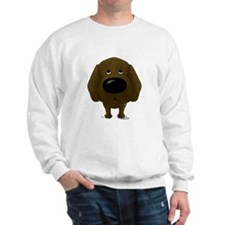 Big Nose/Butt Chocolate Lab Sweatshirt