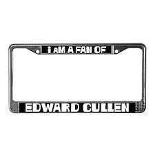 I am a fan of Edward Cullen License Plate Frame