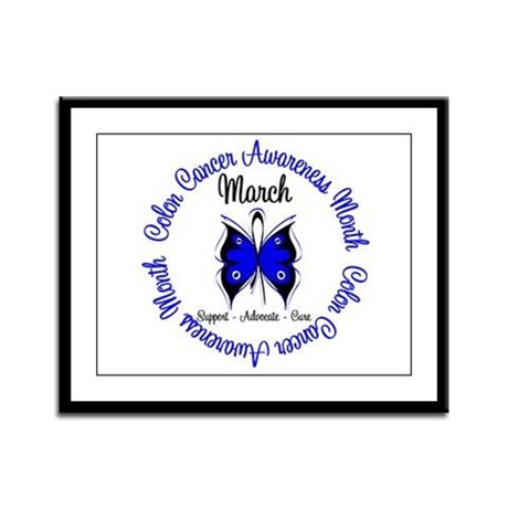 ColonCancerAwarenessMonth Framed Panel Print