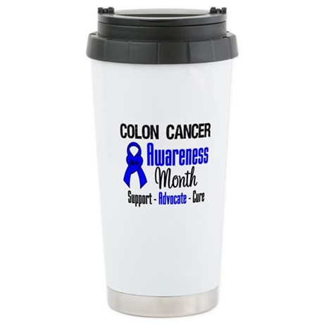 Colon Cancer Month Ceramic Travel Mug