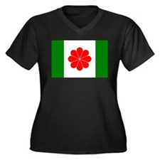 Taiwan Independence Flag Women's Plus Size V-Neck