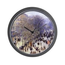 Boulevard des Capucines by Claude Monet Wall Clock