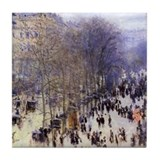 Monet Paris Street Tile Coaster