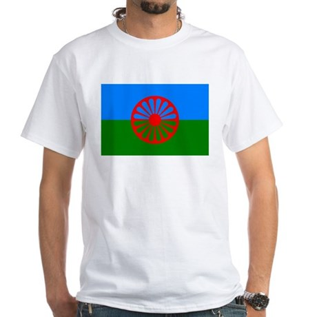 Romani Flag (Gypsies Flag) White T-Shirt