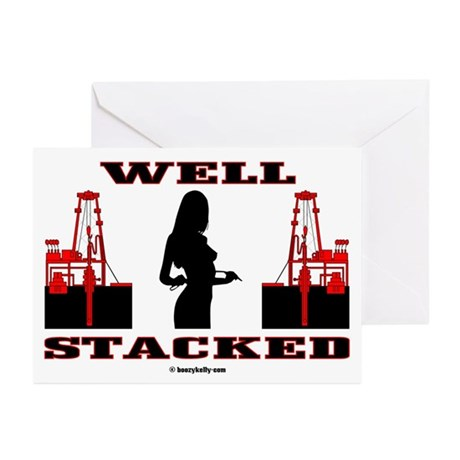 Well Stacked Greeting Cards (Pk of 20),Gas,Oil