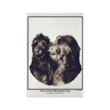 Scottish Deerhound Portrait Rectangle Magnet