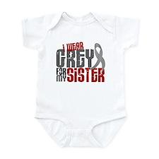I Wear Grey For My Sister 6 Infant Bodysuit