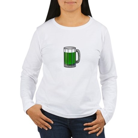 Mug of Green Beer Women's Long Sleeve T-Shirt