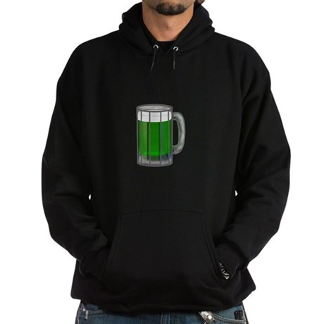 Mug of Green Beer Hoodie (dark)