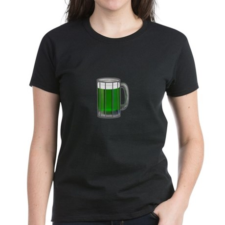 Mug of Green Beer Women's Dark T-Shirt