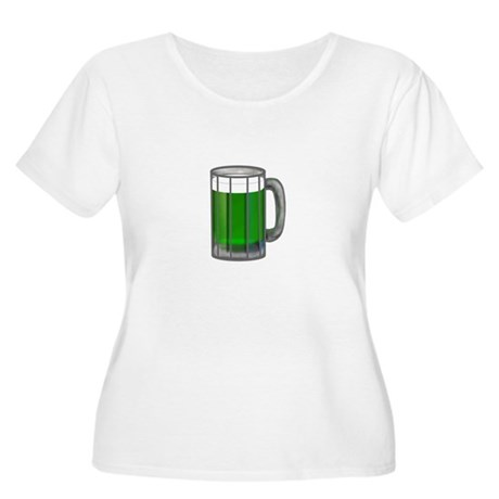 Mug of Green Beer Women's Plus Size Scoop Neck T-S