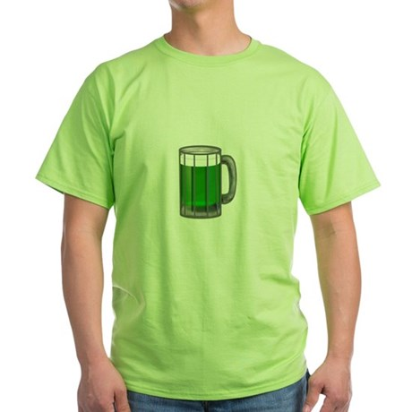 Mug of Green Beer Green T-Shirt
