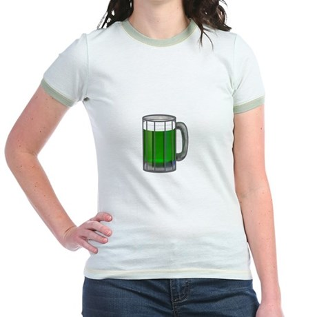 Mug of Green Beer Jr. Ringer T-Shirt