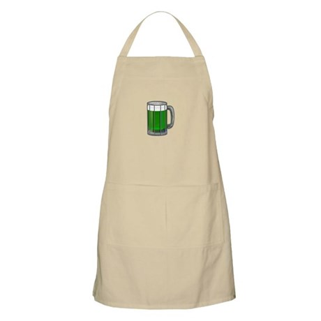 Mug of Green Beer BBQ Apron