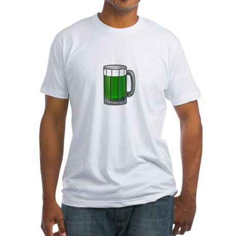 Mug of Green Beer Fitted T-Shirt