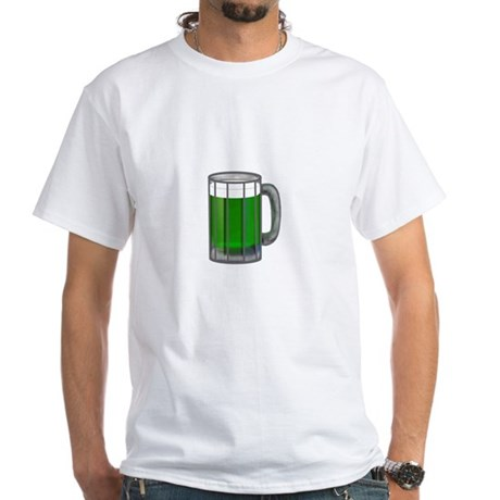 Mug of Green Beer White T-Shirt