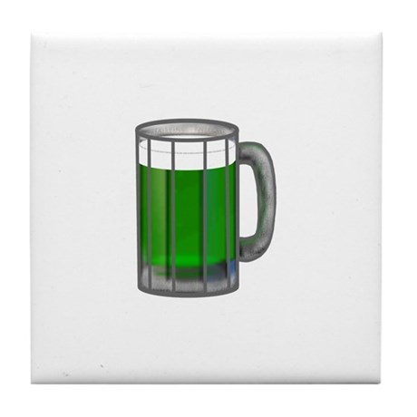 Mug of Green Beer Tile Coaster