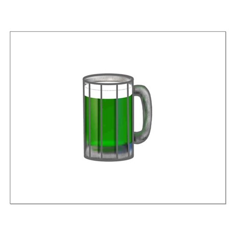 Mug of Green Beer Small Poster