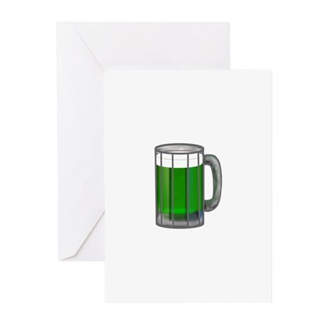 Mug of Green Beer Greeting Cards (Pk of 10)
