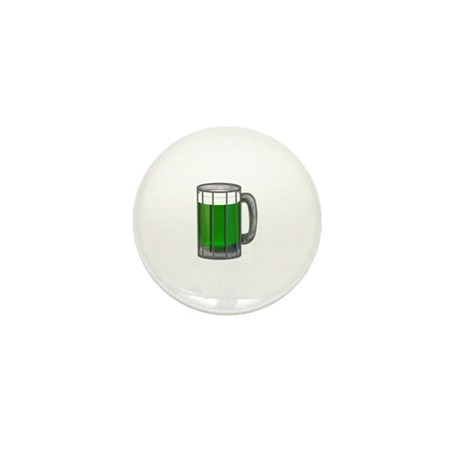 Mug of Green Beer Mini Button