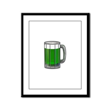 Mug of Green Beer Framed Panel Print