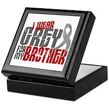 I Wear Grey For My Brother 6 Keepsake Box
