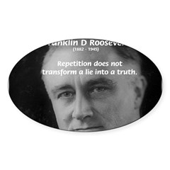 Franklin D. Roosevelt Oval Sticker
