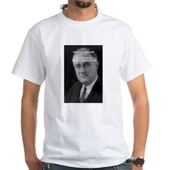 Franklin D. Roosevelt White T-Shirt