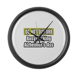 """Kicking Alzheimer's Ass"" Large Wall Clock"
