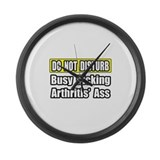 """Kicking Arthritis' Ass"" Large Wall Clock"