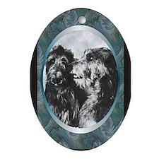 Scottish Deerhound Designer Oval Ornament