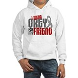 I Wear Grey For My Friend 6 Jumper Hoody