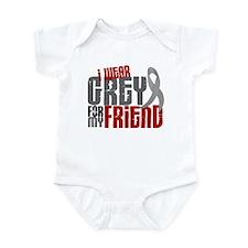 I Wear Grey For My Friend 6 Infant Bodysuit