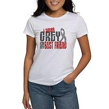 I Wear Grey For My Best Friend 6 Tee