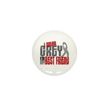 I Wear Grey For My Best Friend 6 Mini Button (10 p
